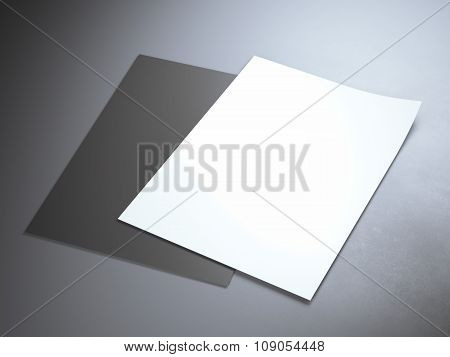 Black and white paper sheets