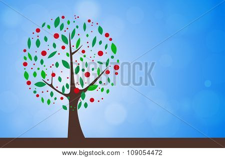 Abstract Tree - Summer Season