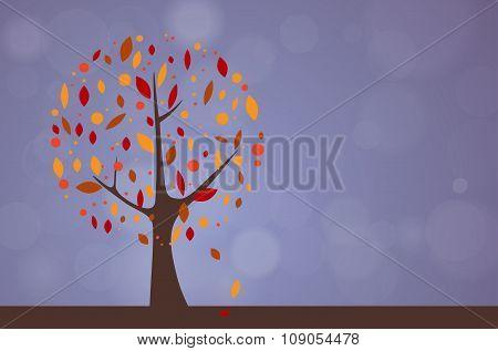 Abstract Tree - Autumn Season