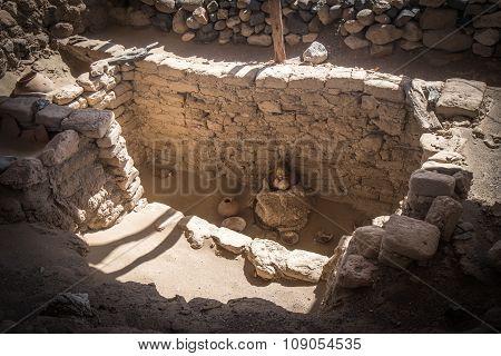 Chauchilla Cemetery With Prehispanic Mummies In Nazca Desert, Peru
