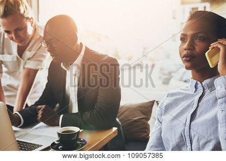 Group Of Ethnic Business People Working