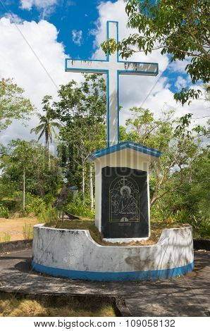 Religious Monument In The Philippines