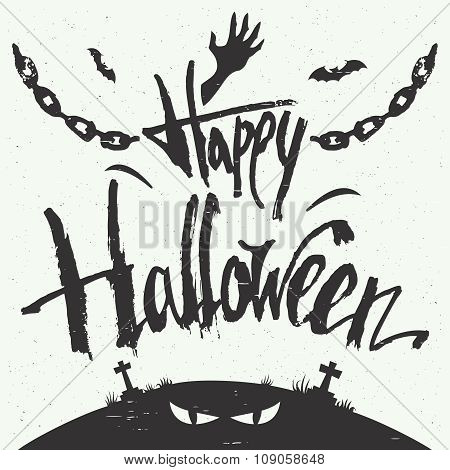 Happy Halloween Hand Drawn Typography