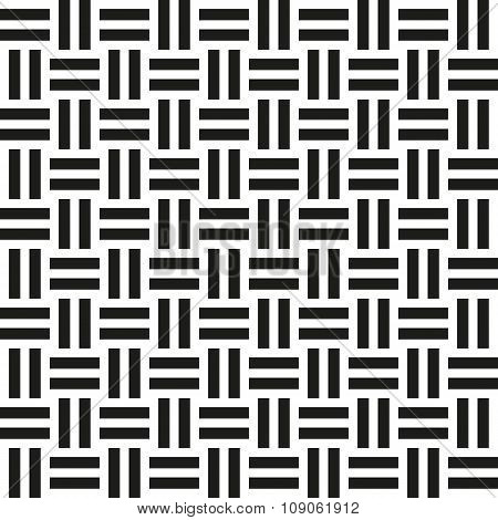 Abstract wicker seamless pattern. illustration for retro