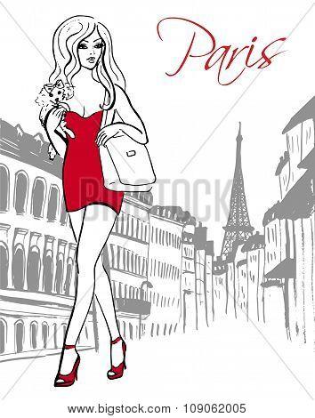 woman walking in Paris