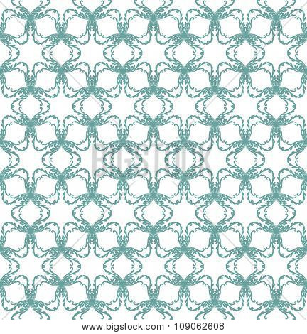 Seamless background in Arabic style. Blue wallpaper with patterns for design. Traditional oriental decor