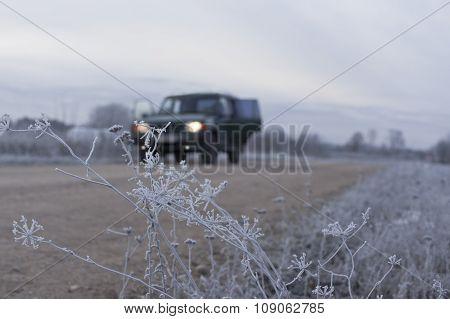 Car In Winter