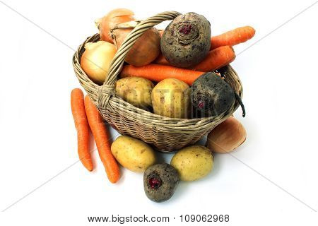 Various Vegetables In Basket