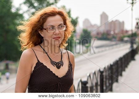 Portrait of red hair woman