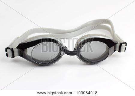 Goggles For Diving On White Background