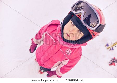 Little Girl Skier