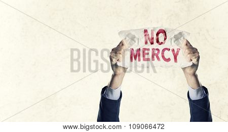 Have No Mercy Concept Isolated Over background with effects
