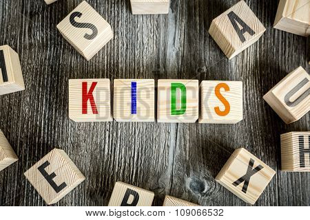 Wooden Blocks with the text: Kids