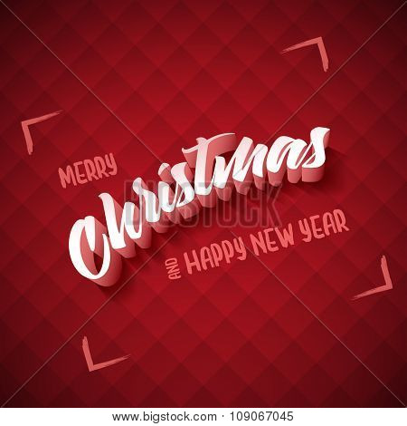 Vector Christmas and new year greeting card design. Elements are layered separately in vector file.