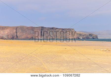Cliffs In The Paracas National Reserve, Peru