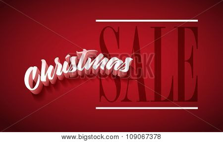 Vector Christmas Sale poster design. Elements are layered separately in vector.