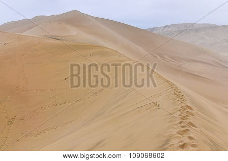 Sand Dunes In The Huacachina Desert, Peru