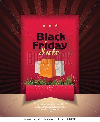 Poster Sale. black friday .Vector illustration.