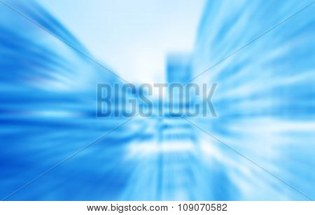 Blurred Office At Night, High Tech Business Background