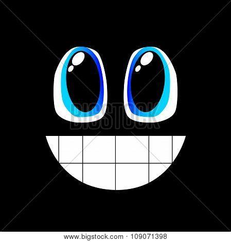 Black laughing emoticon