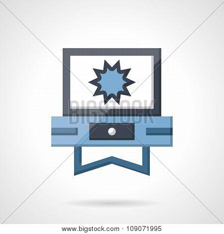 V-blog flat color vector icon