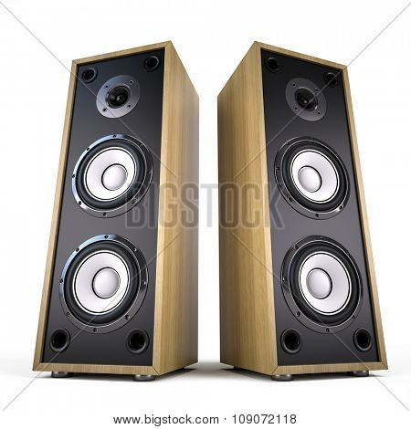Two Big Audio Speakers boxes â?? advertisement, music, concert, audio concept