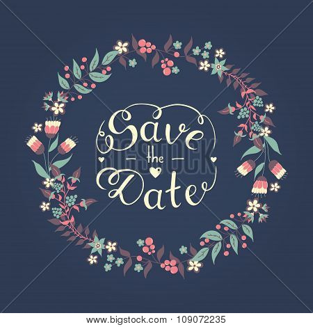 Save The Date Hand Lettering Phrase