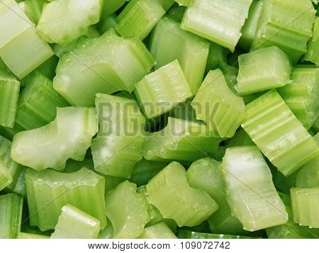 Diced Cut Celery Food Background