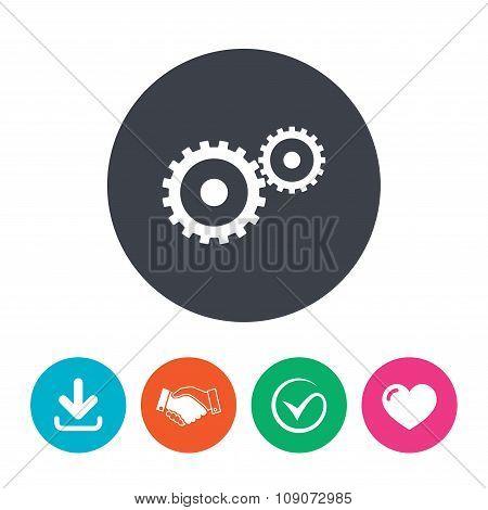 Cog settings sign icon. Cogwheel gear symbol.