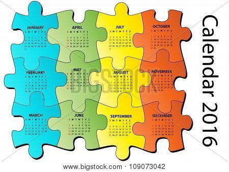 2016 Puzzle Calendar