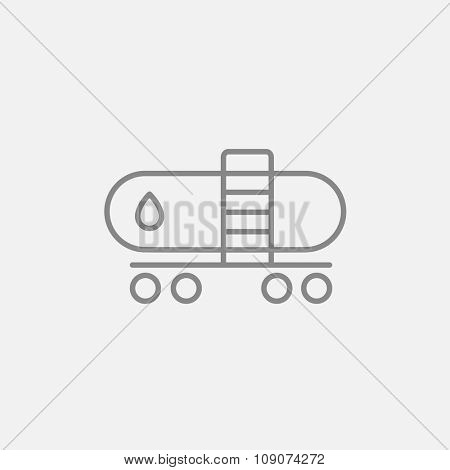 Oil tank line icon for web, mobile and infographics. Vector dark grey icon isolated on light grey background.