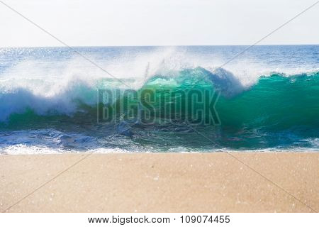 Huge Ocean Waves In Garrapata State Beach In Big Sur, California