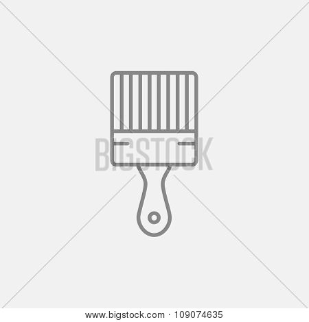 Paintbrush line icon for web, mobile and infographics. Vector dark grey icon isolated on light grey background.