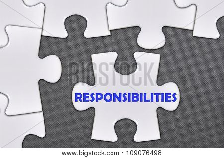 The White Jigsaw Puzzle Written Word Responsibilities