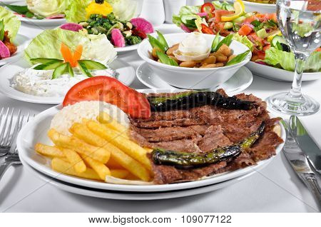 Doner kebap, cooked meat