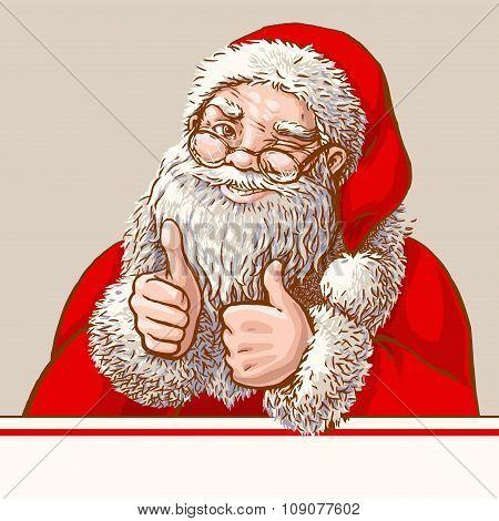 Santa showing o'key