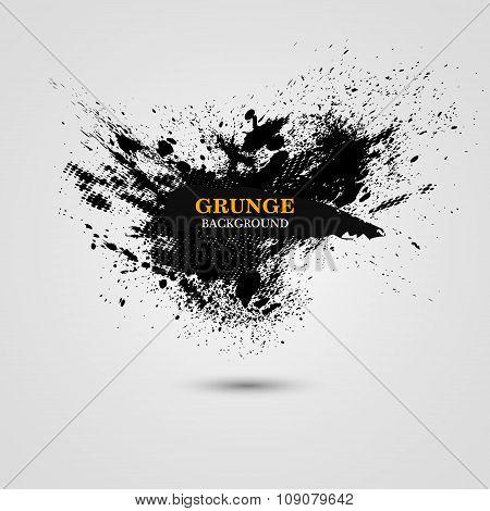 Grunge Splash Banner. Vector Illustration