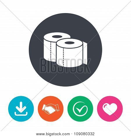 Toilet papers sign icon. WC roll symbol.