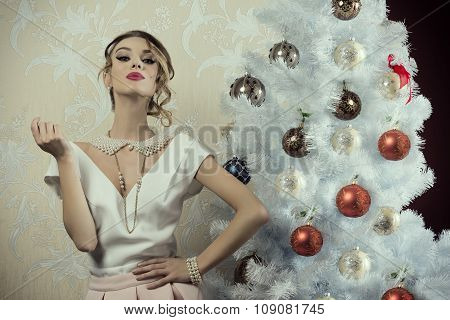 Aristocratic Christmas Girl
