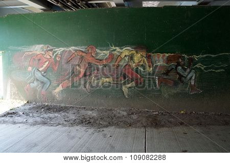 Informal Mural in an Underpass