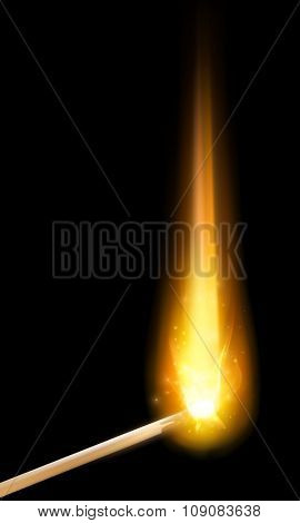 vector match burning
