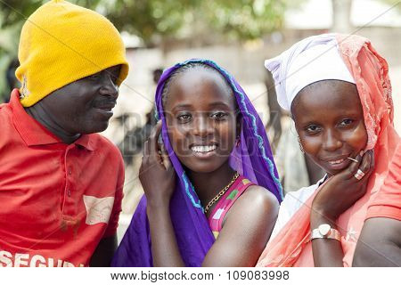 Man Trying To Flirt With Two African Girls