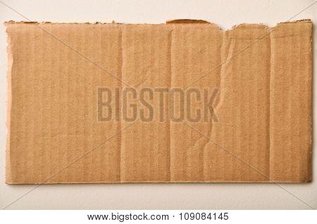 Corrugated cardboard texture