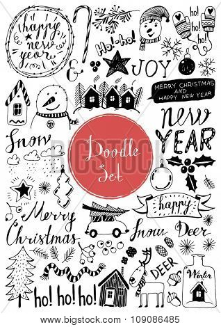 Big doodle set- Winter