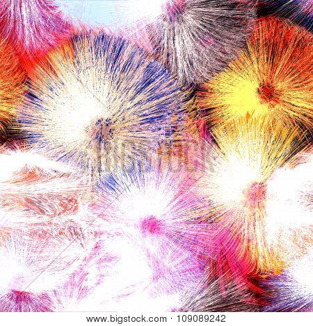 Abstract Background With Colorful Splashing Radiant Elements