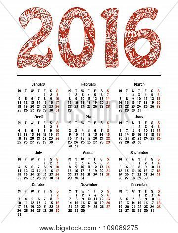 Calendar, New Year