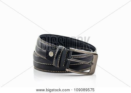 Black Leather Belt For Men.