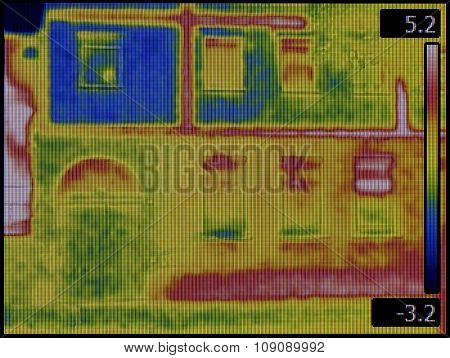 Thermal Image of the House Facade