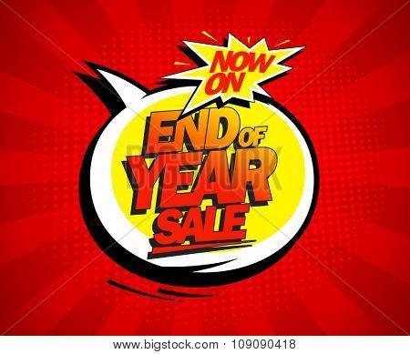 End of year biggest sale pop-art design.