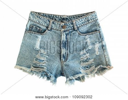 Ripped Jeans Shorts